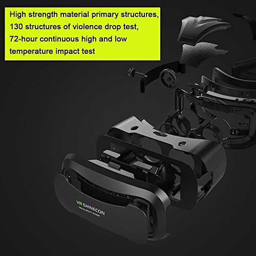 coovoo 3d VR Headset, universele 3d bril instelbaar virtuele realiteit bril Video Movie Game bril Virtual 3d Reality glasses VR World Head mounted voor 3d Films en Games voor 4.7