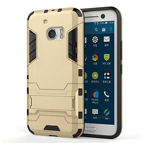 HTC One A9 Coque,Dekaro 2 et 1 Etui Housse Robuste Double Couche R¨¦sistant de PC+TPU Housse Protection Shell Cover Case Pour HTC One A9(Bleu) Or