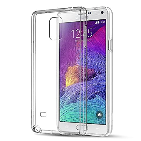 Galaxy Note 4 Case, KKtick Ultra-thin Nature Back TPU [Crystal Clear] Shock-Absorption Bumper Case Cover (Silicon Schermo Pelle Della Protezione)