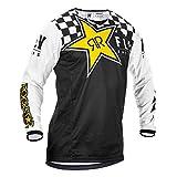 FLy da Corsa 2020 Kinetic Rockstar Motocross Maglia - Bianco E Nero, XL