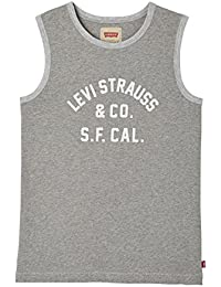 Levi's Tank Top, Camiseta Nino, Gris (Dark Grey Mix 24) para Niños