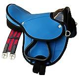 Pony Shetland Sattel Little Billy, completo set anche per legno cavallo–Colore: Azzurro Sattel Set per pony o Shetty o legno Cavallo