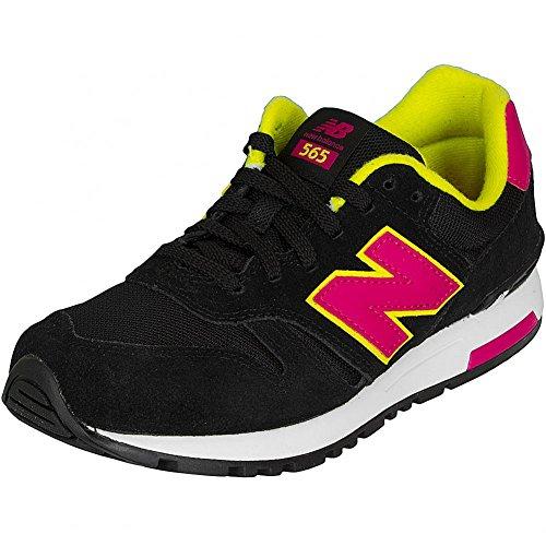 Unbekannt, Sneaker donna nero nero 50 Nero/Rosa