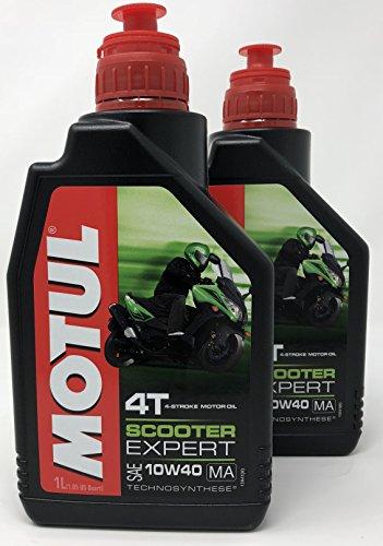 Aceite Moto - Motul Scooter Expert 4T 10W-40, 2 litros (2x1 lt)