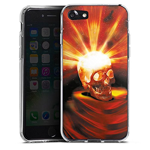 Apple iPhone X Silikon Hülle Case Schutzhülle Totenkopf Halloween Asche Silikon Case transparent