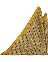 Handkerchief - Swedishly coloured twill, blue & yellow stripes Notch