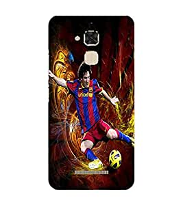 Sports star, Red, Sports star in Action , Football star, Printed Designer Back Case Cover for Asus Zenfone Max ZC550KL :: Asus Zenfone Max ZC550KL 2016 :: Asus Zenfone Max ZC550KL 6A076IN
