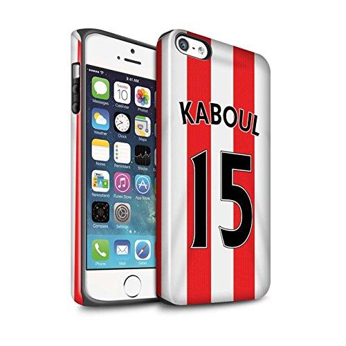 Offiziell Sunderland AFC Hülle / Glanz Harten Stoßfest Case für Apple iPhone 5/5S / Pack 24pcs Muster / SAFC Trikot Home 15/16 Kollektion Kaboul