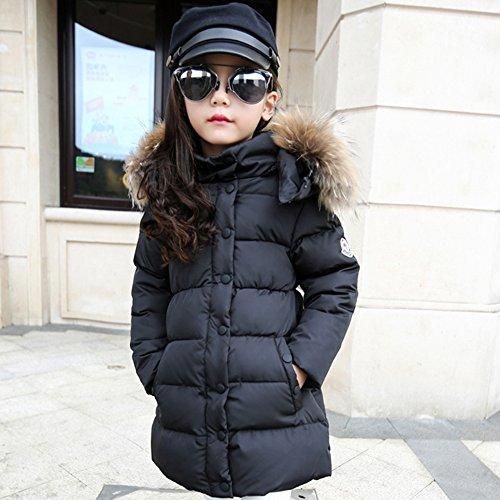 Daunenjacke Kinder Winterjacke mit Kapuze Daunenmantel Lang Mädchen Warm Jacke Verdickte Wintermantel - 3