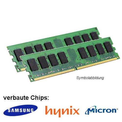 Preisvergleich Produktbild 4GB Dual Channel Kit (2x 2GB) für Medion Akoya P5372 H DDR3 (PC3 12800U) Dimm Unbuffered Arbeitsspeicher