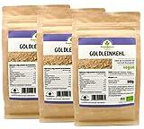 Goldleinmehl, Leinmehl aus Goldleinsaat, Leinsamenmehl, Bio, 3er Pack (3 x 500 g)