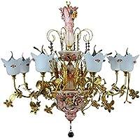 Candeladellotod'oro-rosalampadalampadariodicristallo/illuminazione/soffitto/sospensionelampada
