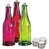 ShadowFax Decorative Bottle Tealight Candle Holders Hanging Lamp 3pc Set