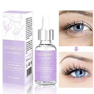 SOSIAY CICI Serum contorno de ojos, suero antiarrugas, reduce las ojeras, líneas finas,Contiene humectante de ácido hialurónico, crema para las ojeras (30ml)