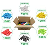 SILISTO 53524bs Kunststoff Verglasungsklötze Breit, Mehrfarbig, 100 x 24 mm, 600 Stück