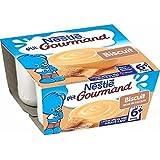 Nestlé p'tit gourmand crème dessert biscuit 4 x 100g dès 6 mois - ( Prix Unitaire ) - Envoi Rapide Et Soignée