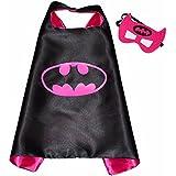Batgirl Superhelden-Kostüme für Kinder-Batman girl Cape und Maske-Batgirl Spielsachen für Jungen und Mädchen-Kostüm für Kinder von 3 bis 10 Jahre-für Fasching oder Motto-Partys!-King Mungo-KMSC006