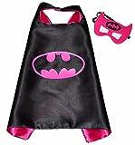 BATGIRL-Superhelden-Kostme-fr-Kinder-Cape-und-Maske-mit-Spiderman-Frozen-Elsa-Batman-Superman-Logo-Spielsachen-fr-Jungen-und-Mdchen-Kostm-fr-Kinder-von-3-bis-10-Jahre-fr-Karneval-Fasching-oder-Motto-P