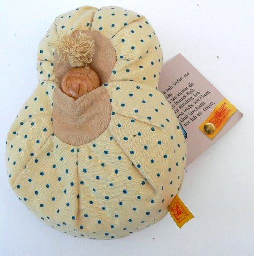 Steiff Knöpfchen Kissenpüppchen mit Holzknopf Ökoserie aus den 90ern