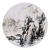 BCX Teppich chinesischen Stil Wind Teppich Wohnzimmer Couchtisch Schlafzimmer Bett Schwanz Studie Runden Teppich,240 cm,D