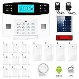 Eray M2B GSM Alarme Maison Sans Fil Système d'alarme Anti Intrusion 433MHZ avec Sirène Extérieure Solaire, IOS / Android APP, Appels et SMS, Interphone, Invite Vocale Française...