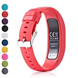 Für Garmin Vivofit 4 Ersatz Uhrenarmband - Feskio Klassisch Weichen Silikon Metallverschluss Schnalle Design Armband Fall Halter für Garmin Vivofit 4 Fitness Tracker (Groß / Klein)