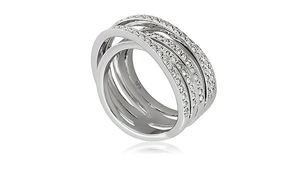 4db1c3660 Swarovski Spiral Silver-Tone Ring 1156307: Swarovski: Amazon.co.uk:  Jewellery