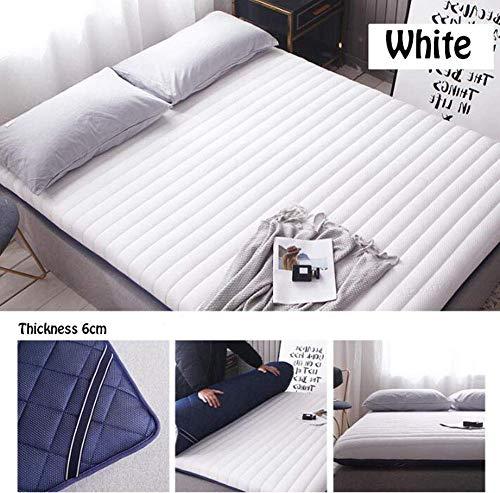 WUAZ Colchón de látex, colchón de Tela Transpirable 3D de 4 pies con colchón de Espuma viscoelástica/Sistema...