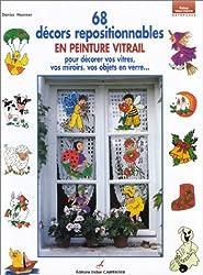 68 décors repositionnables en peinture vitrail pour décorer vos vitres, vos miroirs, vos objets en verre...