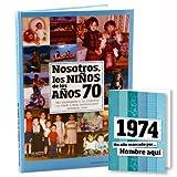 Libro Personalizado de la década de los 70 - Regalo para cumpleaños - Otras Edades Disponibles
