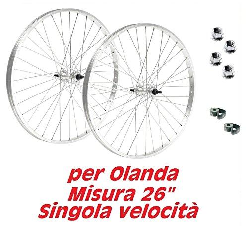 Coppia ruote bicicletta olanda - bici classica - misura 26