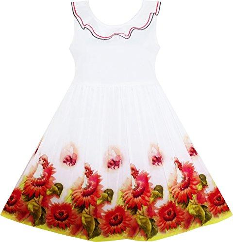 HY35 Girls Dress Sunflower Garde...