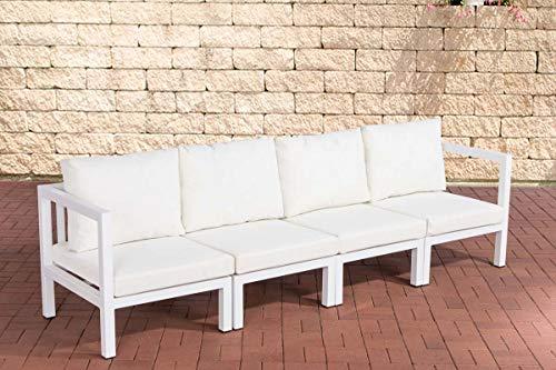 CLP 4er Sofa Vitus aus Aluminium l Gartensofa für 4 Personen l Loungesofa mit Polsterkiss