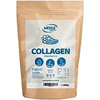Collagen-Pulver 1kg - Kollagen-Hydrolysat - Eiweiß-Pulver Geschmacksneutral - Wehle Sports - Made in Germany Kollagen Typ 1 2 3 Lift Drink