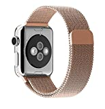 iitee(TM)-Milanese-Magnetic-Loop-Stainless-Steel-Strap-Watch-Bands-for-Apple-Watch-iwatch-(42mm-rose-gold)