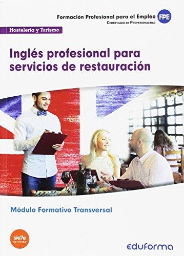 MF1051 Transversal Inglés profesional servicios restauración