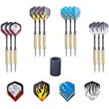 Tip Darts AZPLACE Steel Tip Darts Set 12 Pack 18 Grams With Aluminum Shafts Extra Dart Sharpener And 5 Darts Style Flights Perfect For All Levels In Every Rec Room Man Cave Bar And Game Room