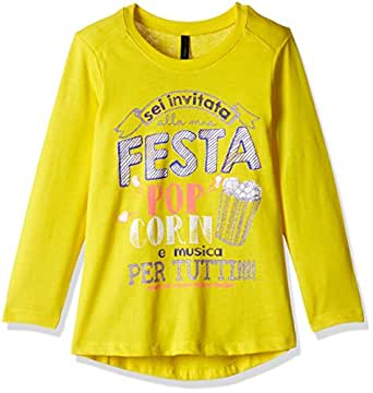 United Colors of Benetton Baby Girls' T-Shirt (16A3096C12U7G10F0Y_Yellow_0Y)