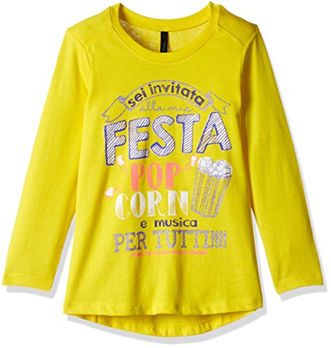 United Colors of Benetton Baby Girls' T-Shirt (16A3096C12U7G10F1Y_Yellow_1Y)