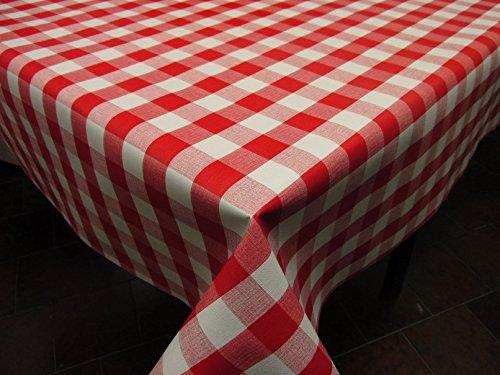 Mantel de Hule PVC estampado Ref. Picnic color Rojo, medida 140x200