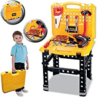 FunkyBuys® Deluxe Large 73 Piece Work Bench Tool Set