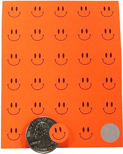 miley Gesicht Kreis Punkt Aufkleber, 13 mm 1/2 Zoll Rund Etiketten, 10 Blätter mit 30 Aufkleber, 300 Gesamt Etiketten (Smilie Gesicht)