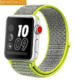 Naomo Compatibile Con Per Cinturino Apple Watch 42mm,Apple Watch Sport Band Strap,Cinturino di Ricambio per iWatch Apple Serie 3,Serie 2,Serie 1 (42mm,Veloce)