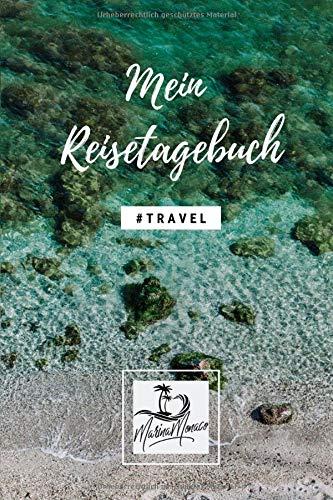 Mein Reisetagebuch: Version: Felsen Strand | Schönes Wanderlust & Urlaubstagebuch | Gepunktetes Notizbuch mit 120 Seiten zum Selberschreiben | ... für Frauen, Freundinnen, Kinder - 6x9