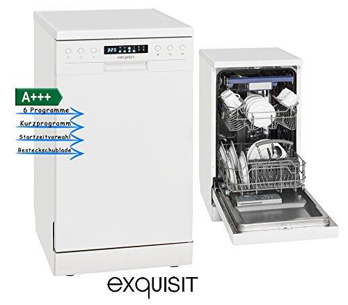 Stand Geschirr Spülmaschine Spühler EEK A+++10 Maßgedecke Exquisit GSP9510.1 weiß