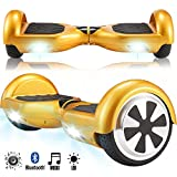 Magic Vida 6.5'' Self Balance Scooter Elettrico in Offerta con LED Auto bilanciamento (Oro)