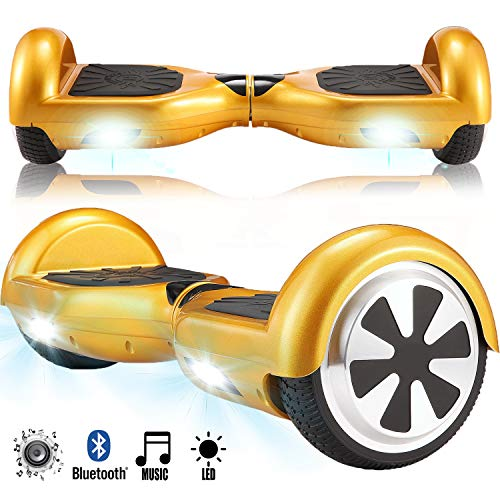 Magic Vida 6.5\'\' Self Balance Scooter Elettrico in Offerta con LED Auto bilanciamento (Oro)