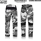 Motorbike Cordura Textile Waterproof Trousers Motorcycle Camouflage Trouser Long Pants Armoured