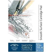 Winsor & Newton 6668595Bloc de dibujo, papel, blanco, DIN A4 - Zeichenblock 40 Blatt