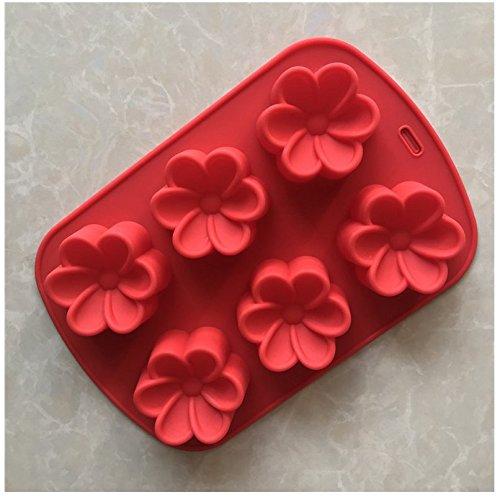 Ruiting Silikon Kuchen Formen 6 Hohlraum 3D Gardenia Blumenform Fondant Dekoration Werkzeuge Seife Kerze Schimmel -